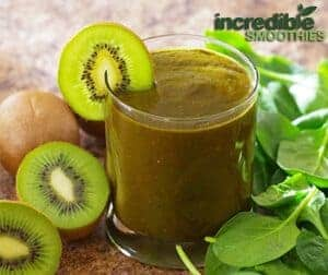 Morning Energy Green Smoothie Recipe with Banana, Kiwi and Cacao ...