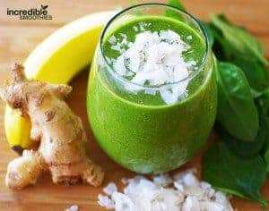 Banana-Coconut Energy Smoothie With Ginger