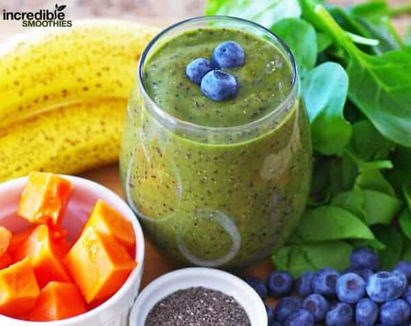 Banana Papaya Blueberry Smoothie Recipe