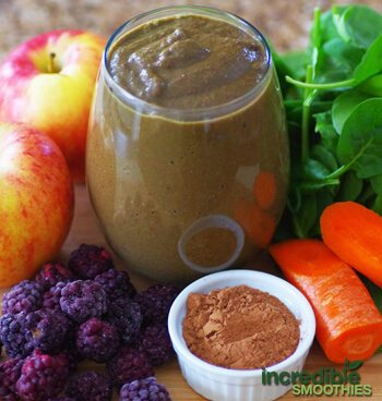 Blackberry-Apple with Chocolate Green Smoothie