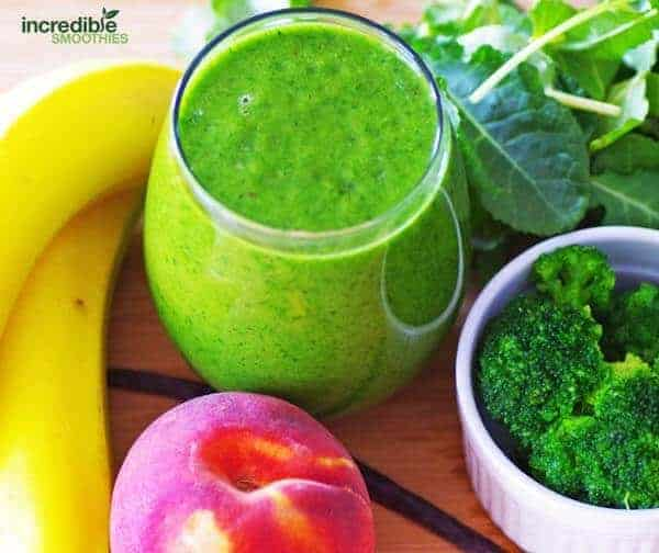 Peach Banana Super Veggie Green Smoothie Recipe