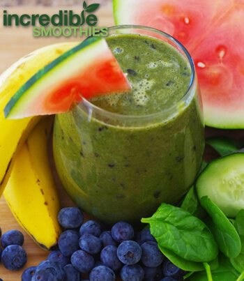 Blueberry-Watermelon Green Smoothie Recipe - Incredible Smoothies