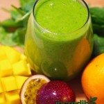 Passion Fruit-Mango Green Smoothie Recipe with Vanilla