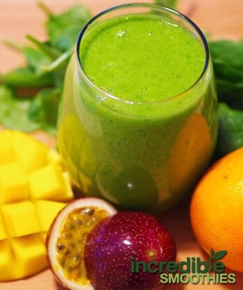 Mango Passion Fruit Green Smoothie Recipe