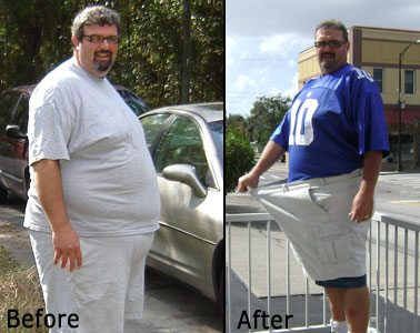 Jeff lost 108 pounds in nine months after drinking green smoothies.