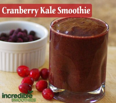 Cranberry-Kale Green Smoothie