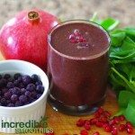 Antioxidant Blast Green Smoothie Recipe with Pomegranate