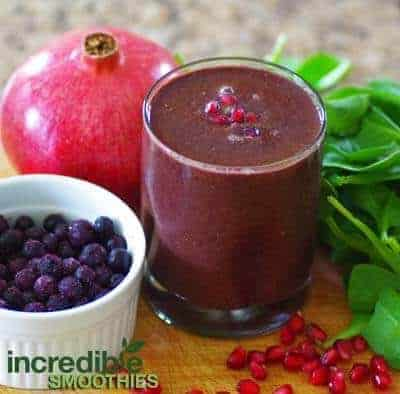 ... Blast Green Smoothie Recipe with Pomegranate - Incredible Smoothies