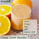 Orange-Carrot Smoothie Recipe with Pear and Oats
