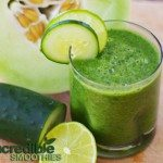 Melon-Cucumber Weight Loss Green Smoothie Recipe with Mint