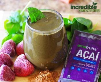 Chocolate-Acai Green Smoothie