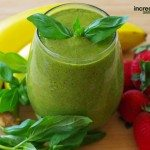 Strawberry-Basil Green Smoothie Recipe