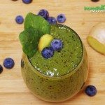 Ginger-Blueberry Green Smoothie Recipe with Oats