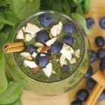 Blueberry Cinnamon Green Smoothie Recipe
