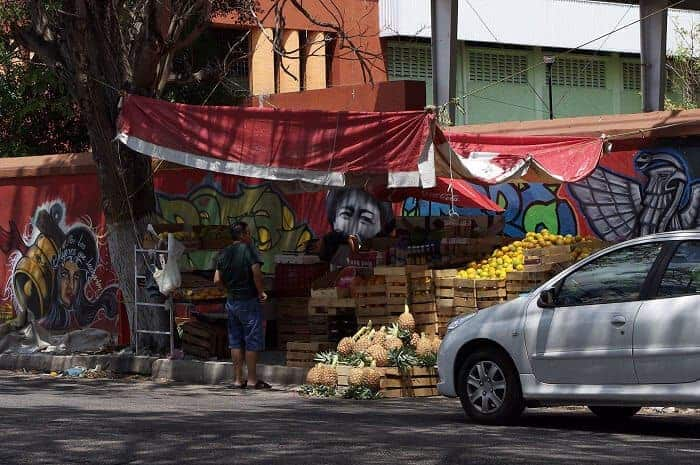 Fruit stand in Merida.