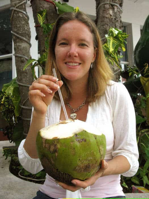 Young coconuts for calcium