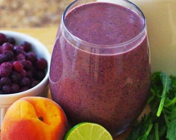Peach-Blueberry Veggie Smoothie