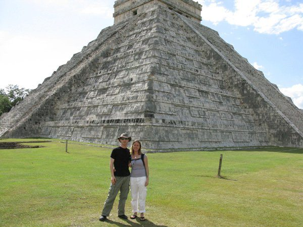 Tracy and I in front of Chichen Itza.