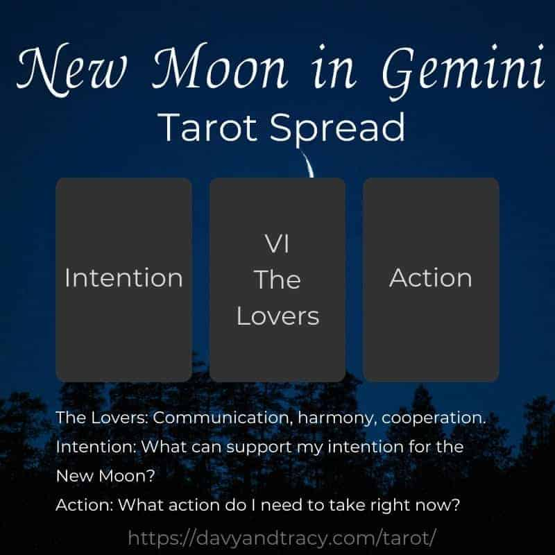 New Moon in Gemini tarot spread.